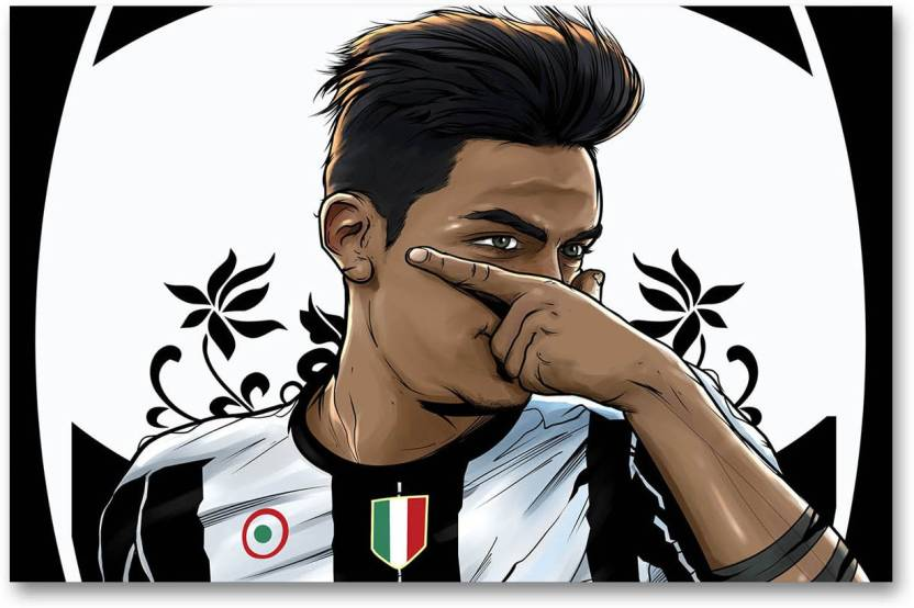 promo code 67714 a01a1 Juventus Football Club Wall Poster - Paulo Dybala - Fan Art ...