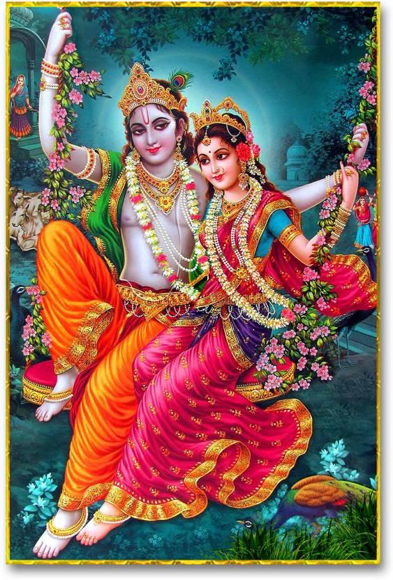 wall poster radha krishna krishna hd quality poster paper