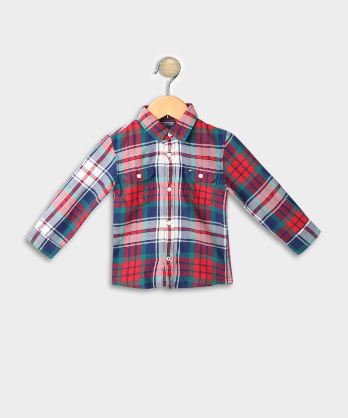 ba569921 Tommy Hilfiger Baby Boys Checkered Casual Multicolor Shirt - Buy Blue Tommy  Hilfiger Baby Boys Checkered Casual Multicolor Shirt Online at Best Prices  in ...
