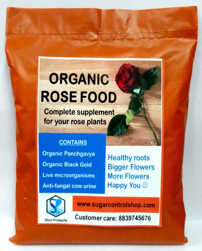 Shiviproducts Organic Rose Food for Rose Plants Soil Manure