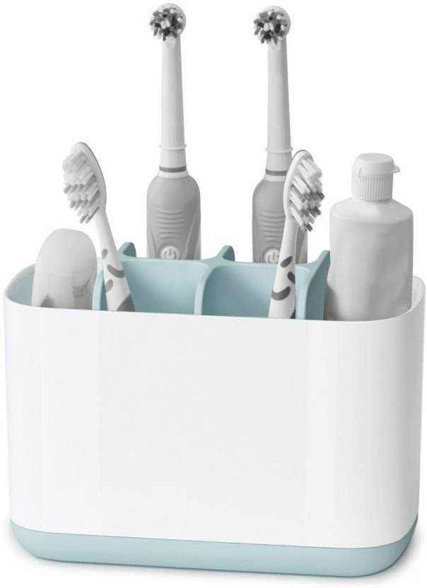 Mohak Toothbrush Holder Bathroom Electric And Toothpaste Organizer Rack Plastic
