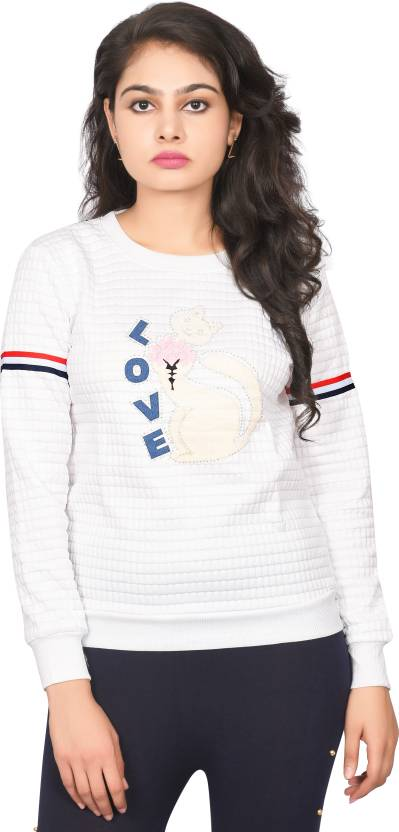 be1e70b567e042 Ziva Fashion Casual Full Sleeve Color Blocked Women's White Top - Buy Ziva  Fashion Casual Full Sleeve Color Blocked Women's White Top Online at Best  Prices ...