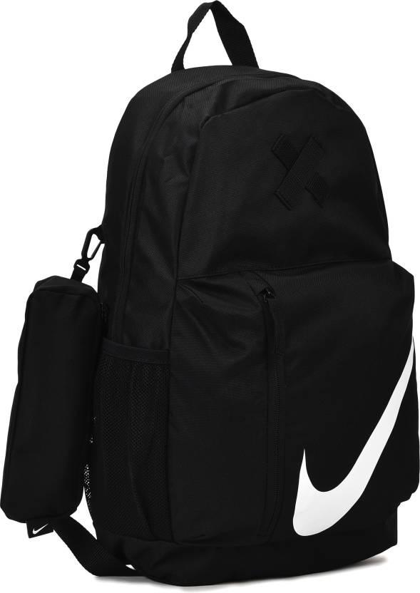 1a56a509405 Nike Y NK ELMNTL B 8.66 L Backpack BLACK/BLACK/WHITE - Price in ...