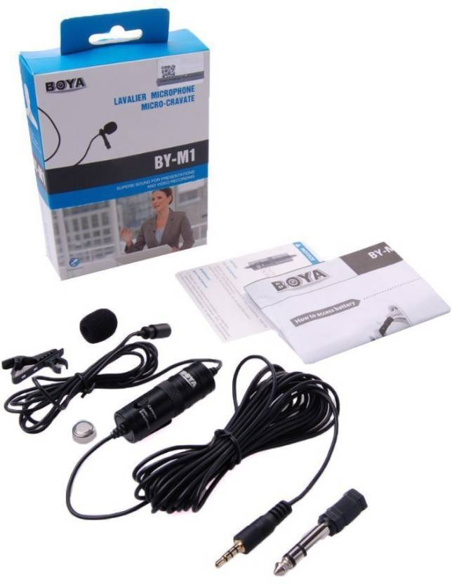 Boya Omnidirectional Lavalier With 20ft Audio Camera Microphone