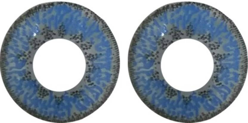 Colour Perfection Blue Mystic Color Contact Lenses - WITH