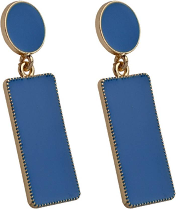 8d3ea909c7d1c Flipkart.com - Buy The Swag World Fashionable Blue Color Geometric pattern  fashion statement earrings For Women Zinc Drop Earring Online at Best  Prices in ...
