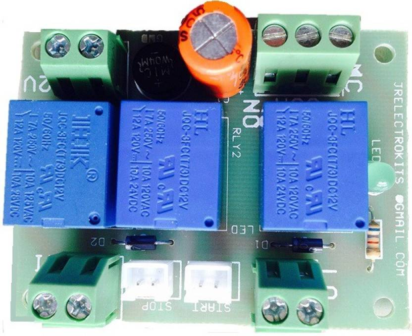 Jr Electrokits 12VDC Self Latching, Holding contact Relay board