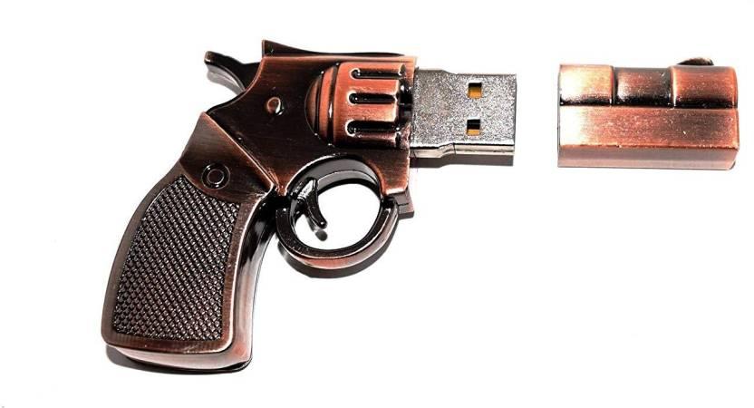 Tobo Pen Drives, Metal Gun Shaped USB Drive, Portable Drive, Fancy