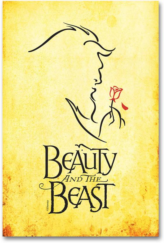 Wall Poster Beauty And The Beast Vintage Movie Poster Paper