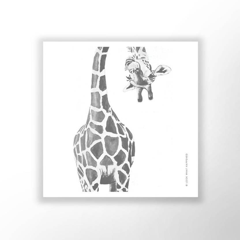 Peeking Giraffe Wall Art Print Paper Print Art