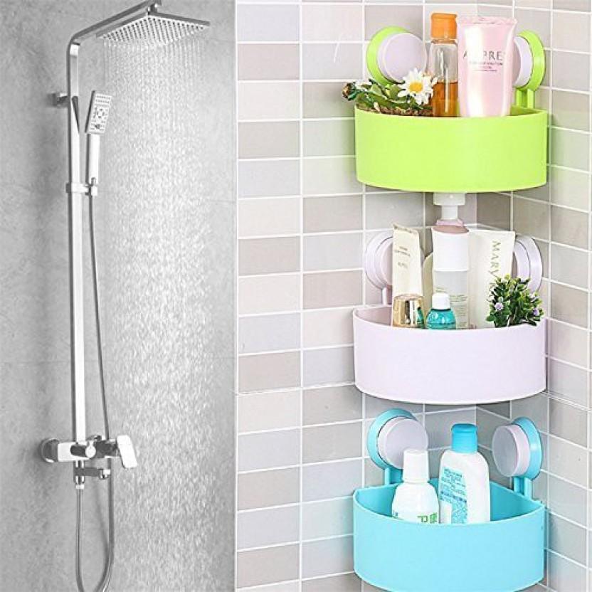Bathroom Soap Box Suction Cup Wall Mounted Shower Bath Toiletries G
