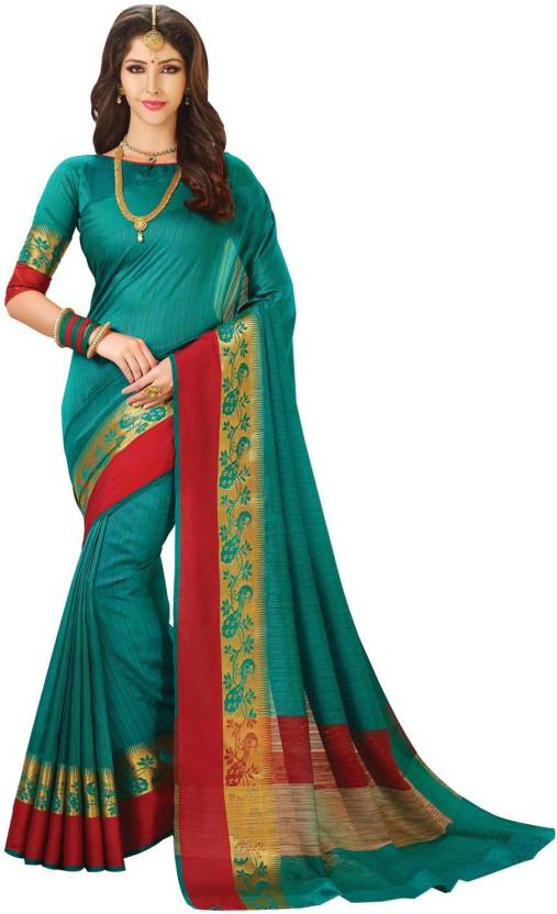 faad9fb1cb180f Buy KUBERAN Embroidered Banarasi Banarasi Silk Green Sarees Online ...
