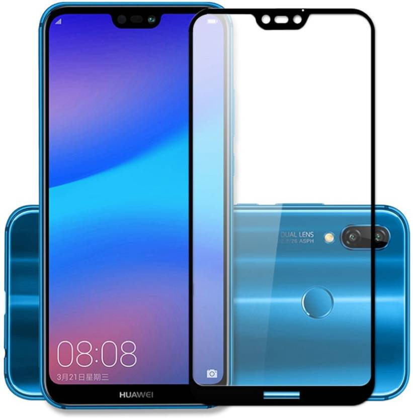 CHVTS Tempered Glass Guard for Huawei Nova 3e ,5D Glass, Black