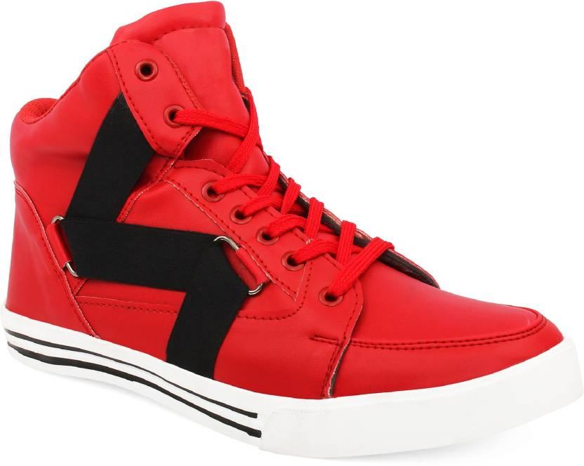 de898629 ZIXER Zixer Exclusive Hip Hop Dancing Boots Dancing Shoes For Men (Red)