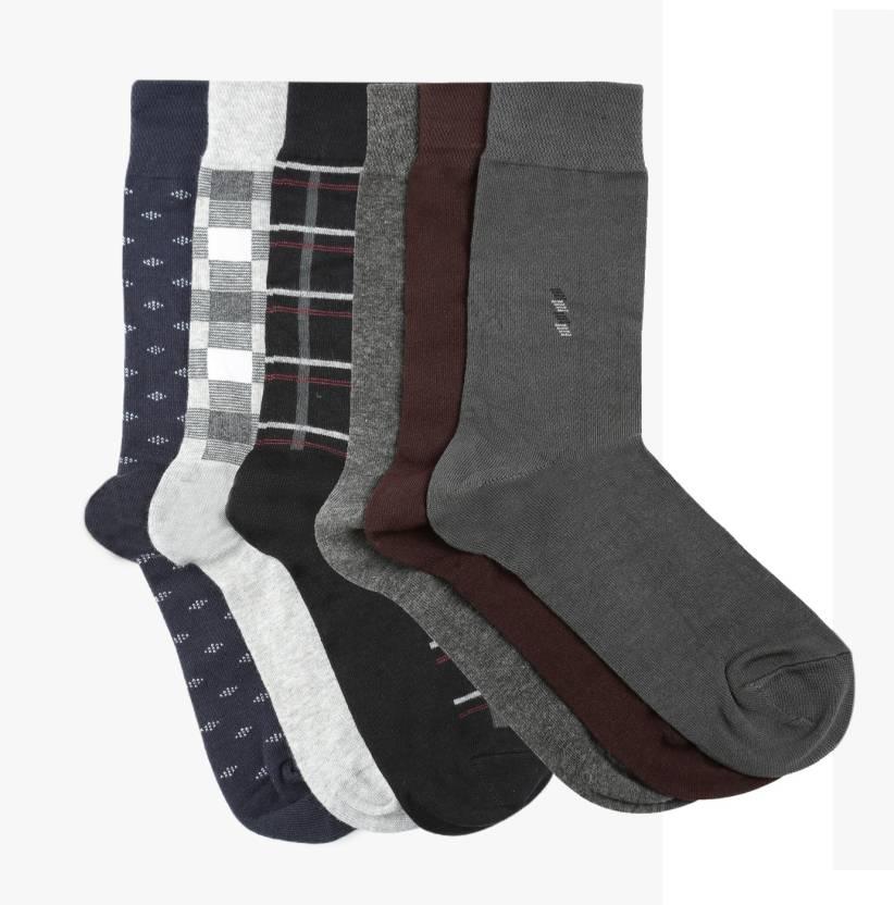 529c43596 Dollar Socks Men's Self Design Mid-Calf/Crew - Buy Dollar Socks ...