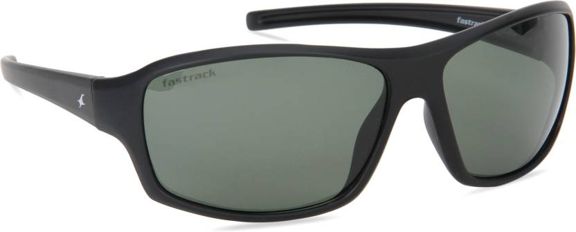 d1fbac9920 Buy Fastrack Wrap-around Sunglasses Green For Men Online   Best ...