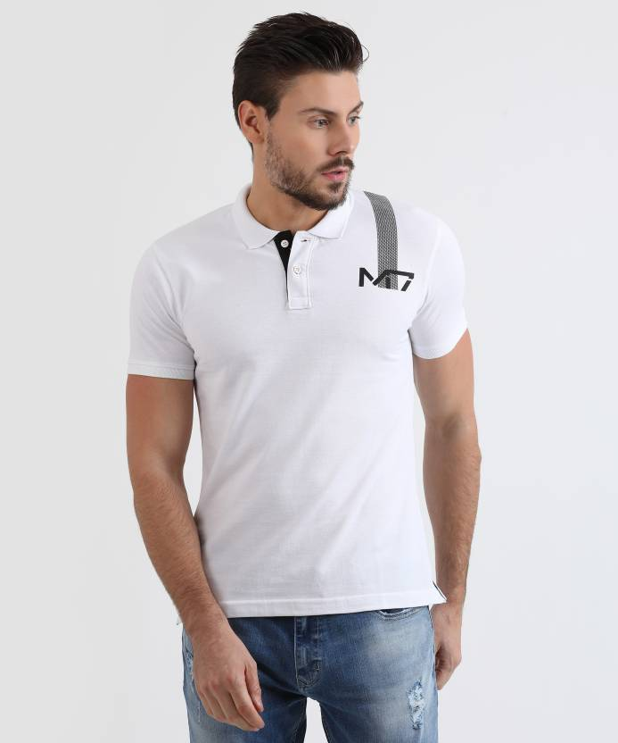 7455be07f92c5d Metronaut Athleisure Solid Men s Polo Neck White T-Shirt - Buy WHITE  Metronaut Athleisure Solid Men s Polo Neck White T-Shirt Online at Best  Prices in India ...