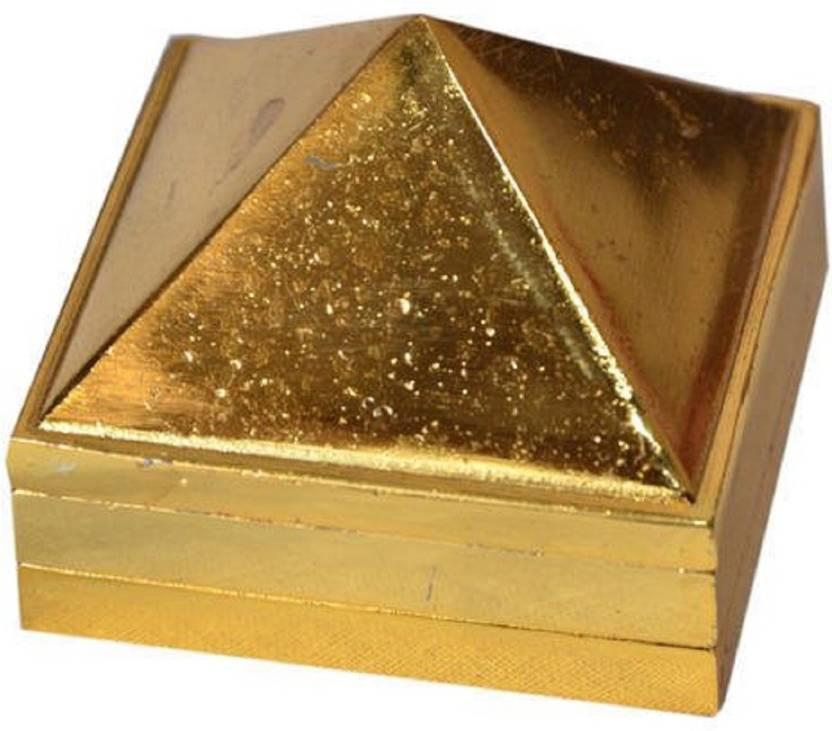 Reiki Crystal Products Metal Pyramid With Mantra On Base For Vastu Dosh  Removal Brass Yantra