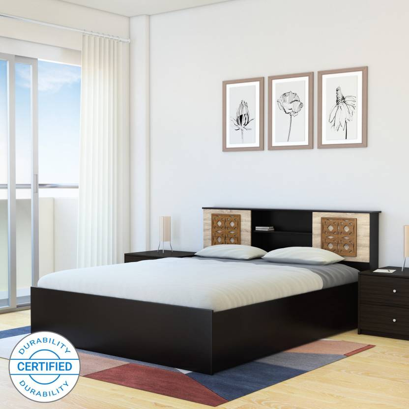 166f6d199f3 Flipkart Perfect Homes Rhapsody Engineered Wood Queen Box Bed (Finish Color  - Wenge)