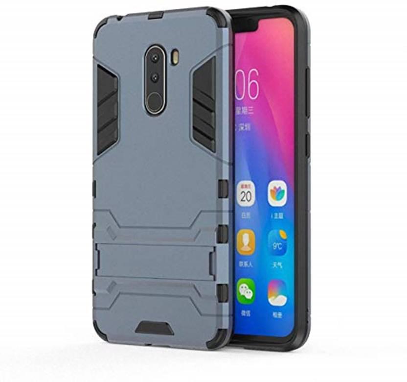 size 40 3f54c f4f52 Tarkan Back Cover for Heavy Duty Shockproof Armor Kickstand Back Case Cover  For Poco F1 (Blue) Xiaomi Pocofone F1