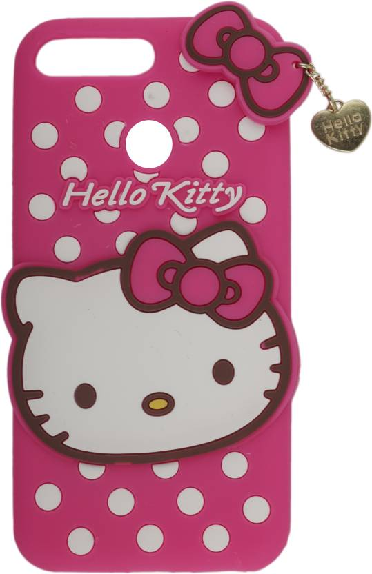 fba815e59 Dekkin Back Cover for Girls back cover, Cute Hello Kitty Silicone Cover Case  for Huawei Honor 7A(Pink) (Pink, 3D Case, Flexible Case)