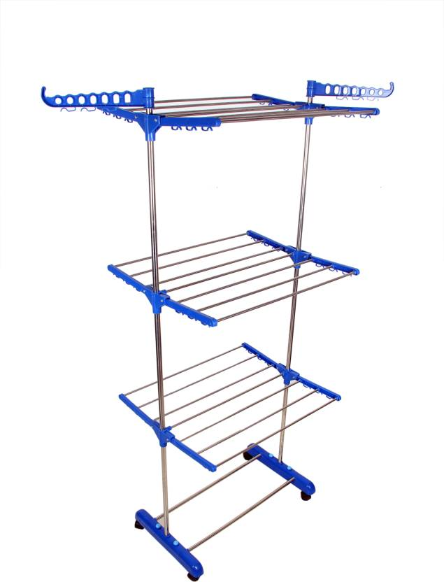 555d8d2d3249 LAKSHAY MADE IN INDIA RUST FREE FLOOR MOUNTED CLOTHES DRYING STAND MADE OF  STAINLESS STEEL AND HI QUALITY PLASTIC Stainless Steel Floor Cloth Dryer  Stand ...
