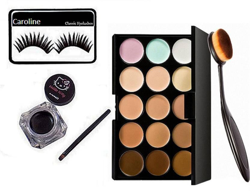 Caroline Eyelashes Conceler Palatte Hello Kitty Eyeliner