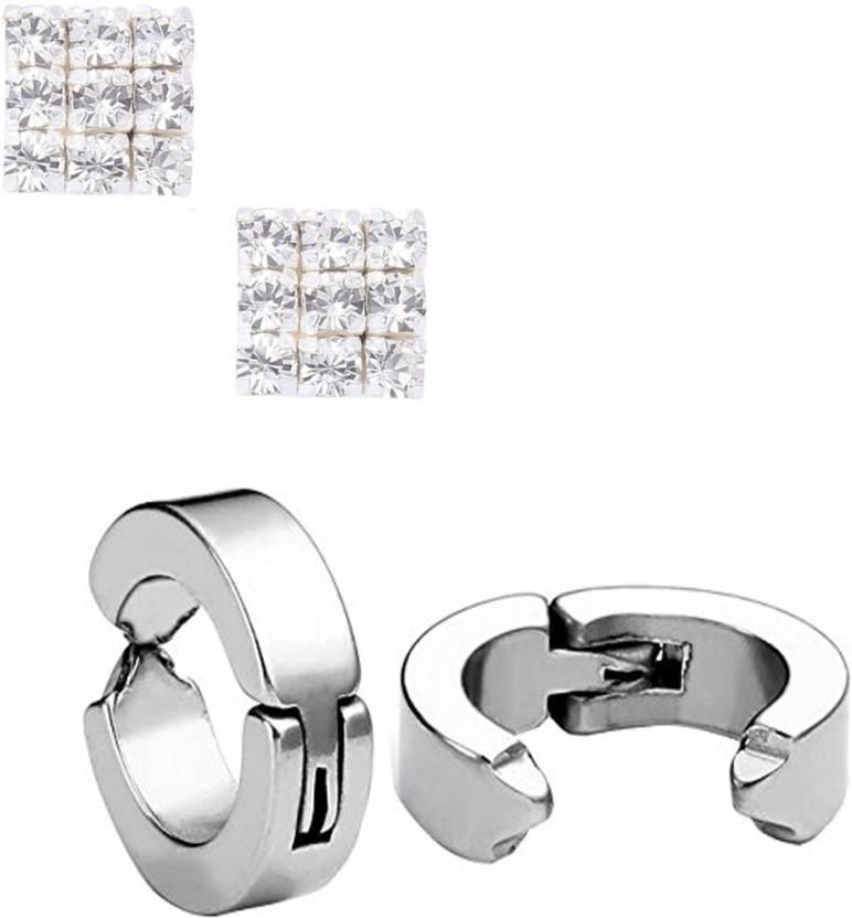 215f1d942 Flipkart.com - Buy Phenomenal clipon-Sil_Sqrdmnd Stainless Steel Clip-on  Earring Online at Best Prices in India