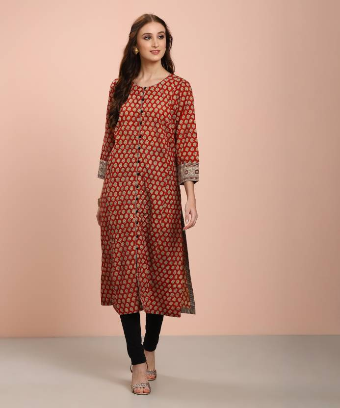 ad17383e8e5 Fabindia Women Printed Straight Kurta - Buy Fabindia Women Printed ...