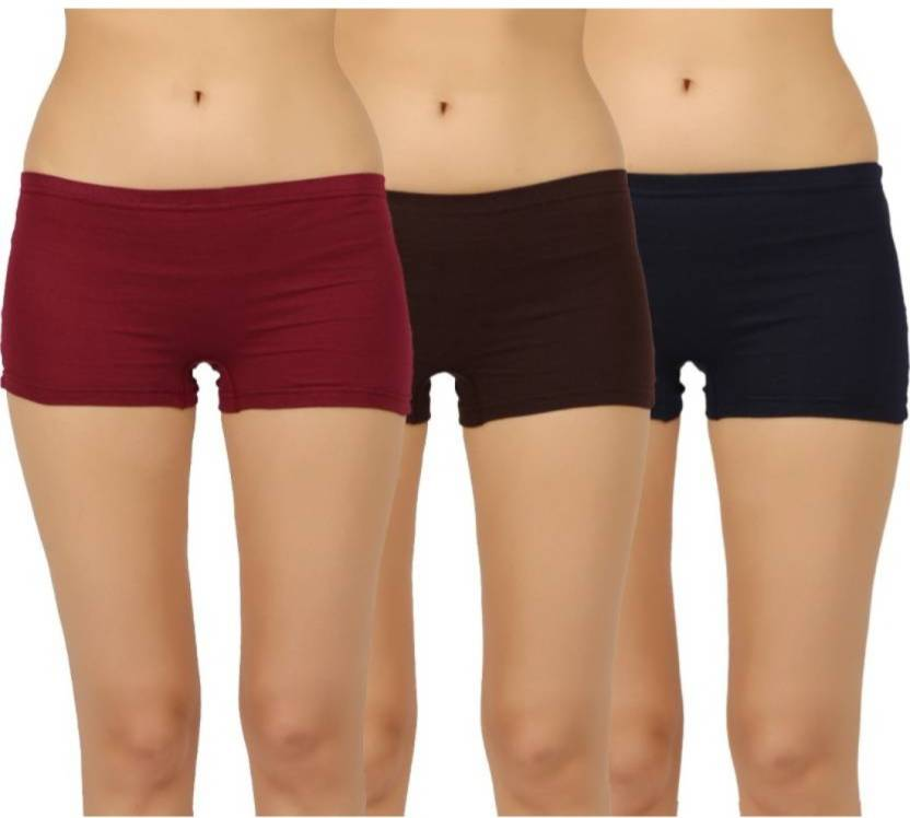 6e5404ee00f GLAMORAS Women Boy Short Maroon, Brown, Blue Panty - Buy GLAMORAS ...
