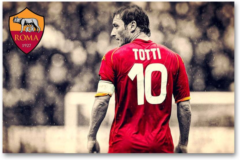 best loved 1a909 0f4cd A.S. Roma Football Club Wall Poster - Francesco Totti - HD ...