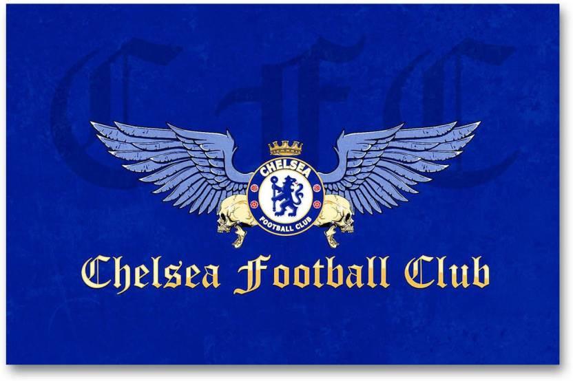 da66b6d21 Chelsea Football Club Wall Poster - Logo - HD Quality Football Poster Paper  Print (12 inch X 18 inch