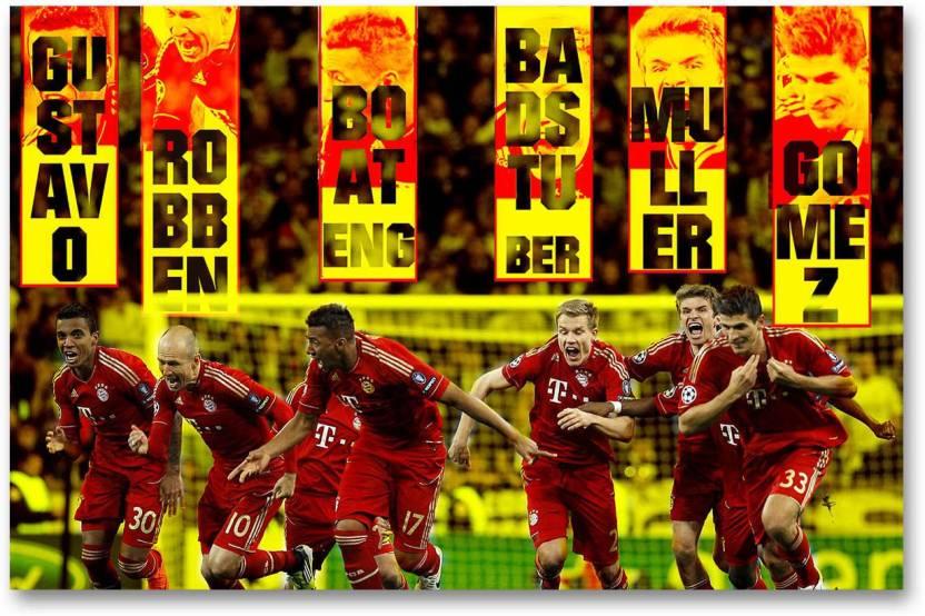 size 40 a3bf2 54cb8 Bayern Munich Football Club Wall Poster - Champions - HD ...