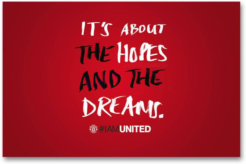 Wall Poster Manchester United Hd Quality Wall Poster Paper Print