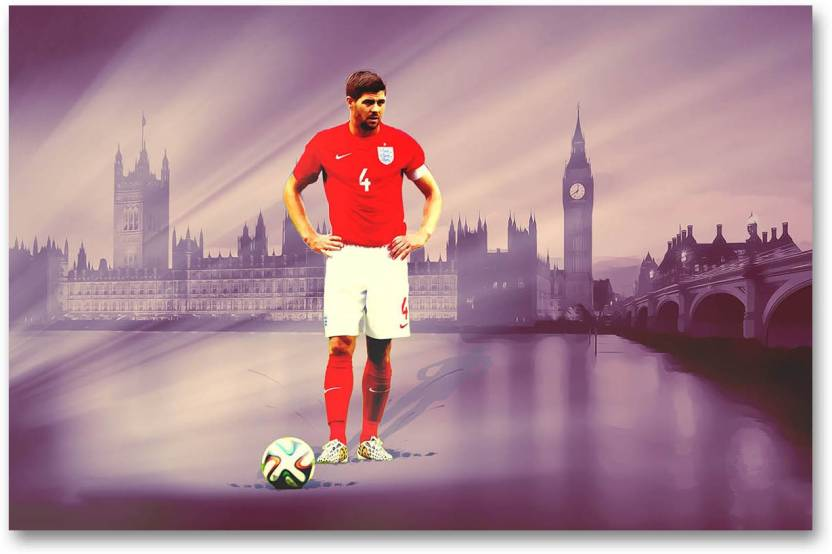 the best attitude 5acfd 202ee England National Football Team Wall Poster - Steven Gerrard ...