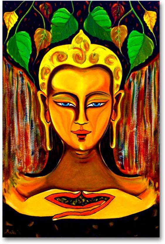 wall poster buddha under bodhi tree buddhism hd quality poster