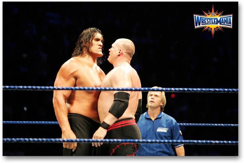Wall Poster The Great Khali Vs Kane Hd Quality Wrestling Poster