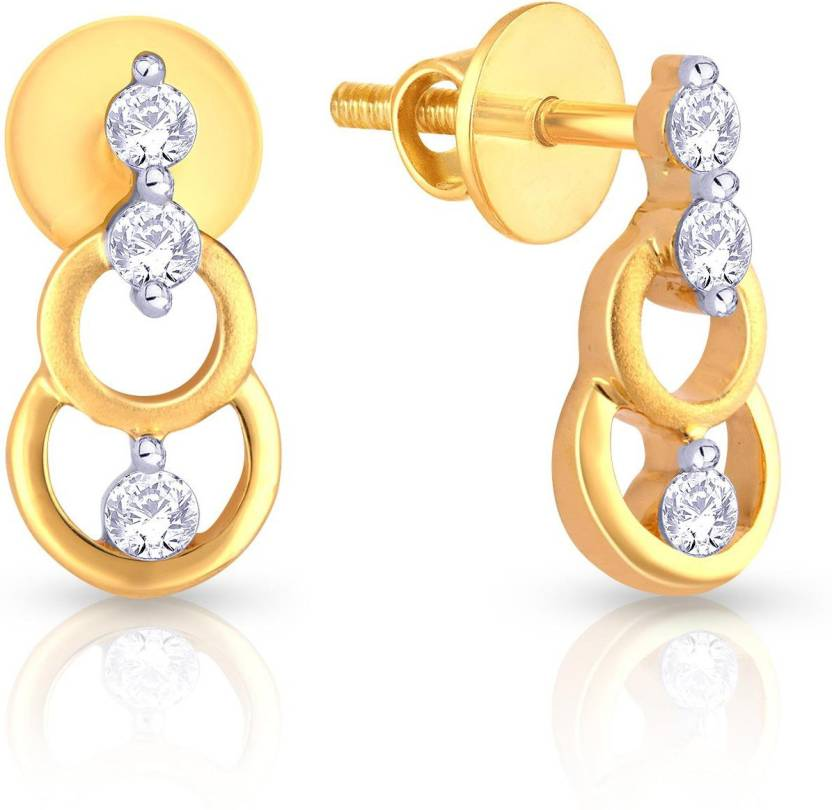b4bb2dd0f1d8b Malabar Gold and Diamonds E-651327_Y_VVS-EF Yellow Gold 18kt Diamond ...