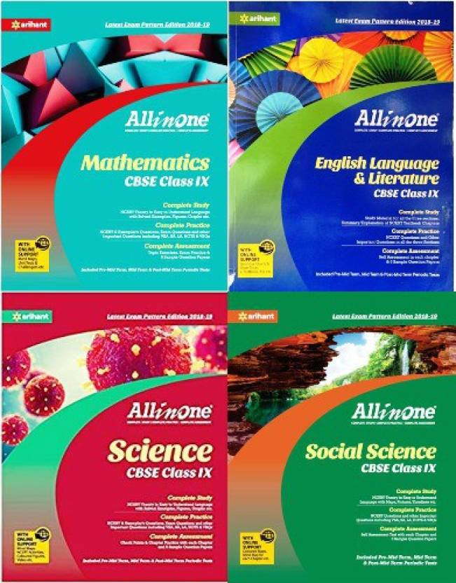 Arihant CBSE All In One Class -9 Set Of 4 Books Combo ( English +