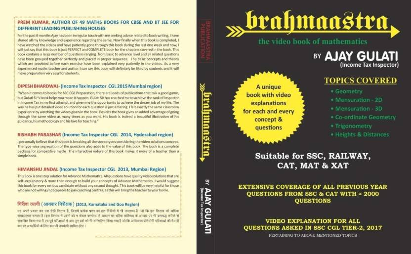 Brahmaastra-Video Book Of Mathematics For SSC And MBA: Buy