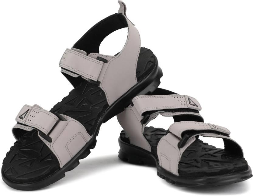 a76de33504fd REEBOK Women POWDER GREY BLACK Sports Sandals - Buy REEBOK Women ...
