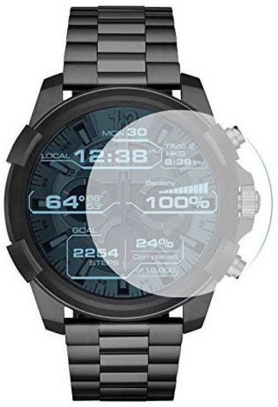 ACUTAS Tempered Glass Guard for Diesel On Grey Smartwatch (Pack of 1)