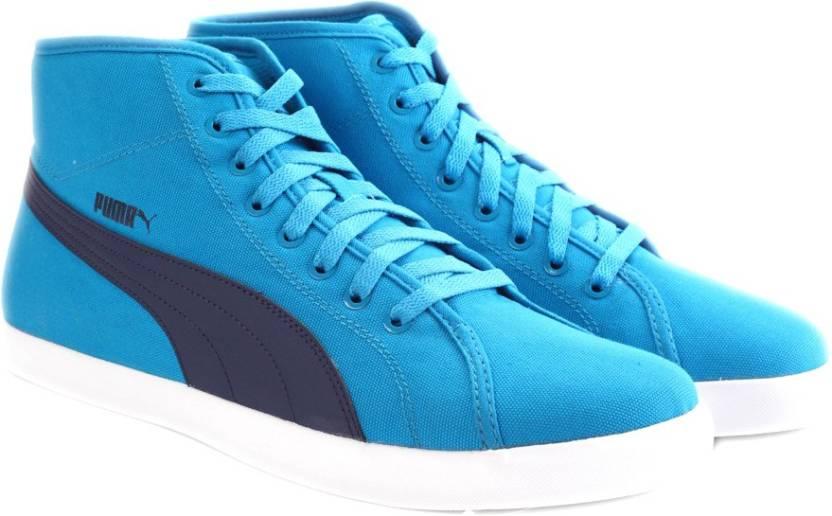 Puma Elsu v2 Mid CV DP Men Canvas Shoes For Men - Buy blue Jewel ... 71ce0142c