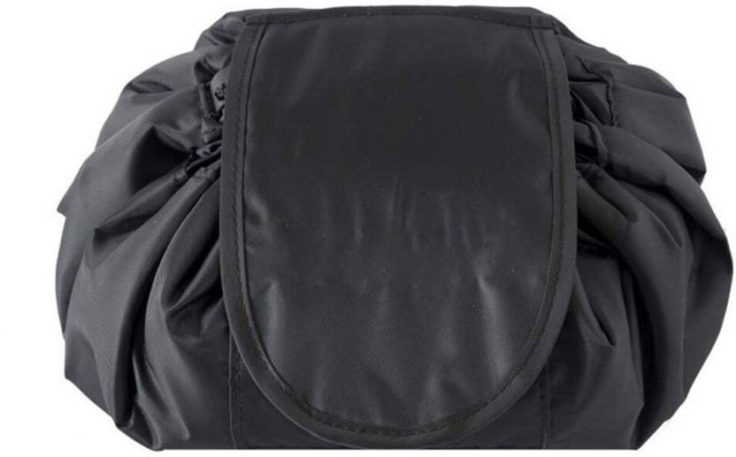23ce7ba4e2 House of Quirk Lazy Cosmetic Bag Drawstring Travel Makeup Bag Pouch  Multifunction Storage Portable Toiletry Bags - Black (Black)