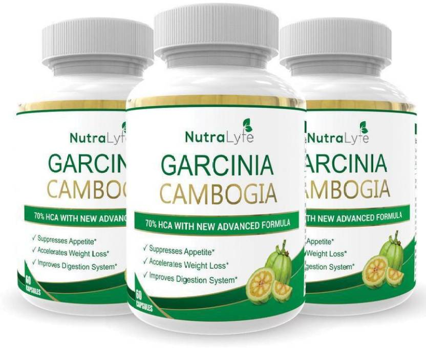 Nutralyfe 100 Natural Herbal Garcinia Cambogia Extract 70 Hca For Fat Burn 60 Capsules Pack Of 3