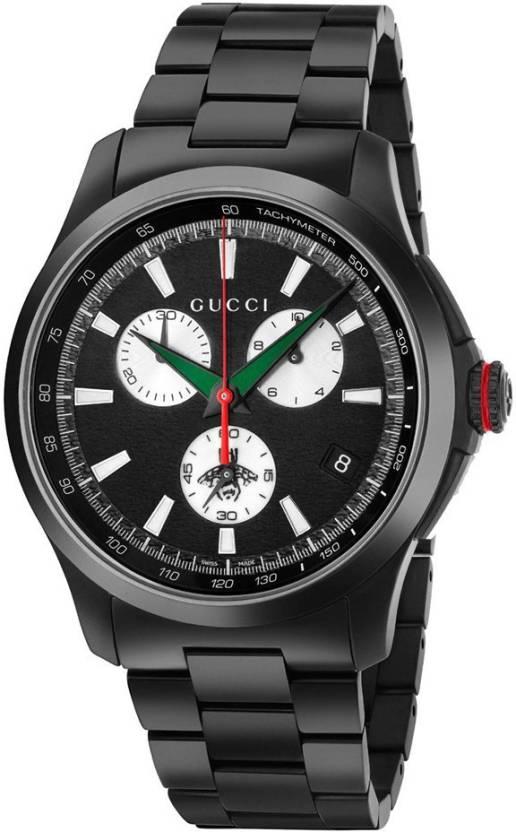 e93a53cd24b GUCCI YA126268 G-timeless Chronograph XL Black Dial Watch - For Men - Buy  GUCCI YA126268 G-timeless Chronograph XL Black Dial Watch - For Men  YA126268 ...
