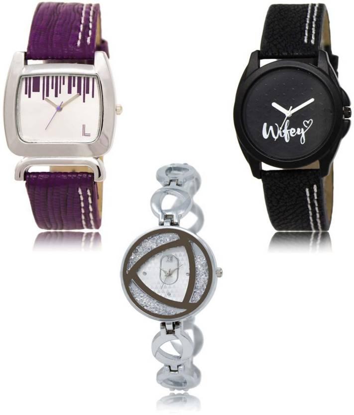 d2a3ce289cd4f NEUTRON Classical 3D Design Wife Purple Black Silver Color 3 Watch ...