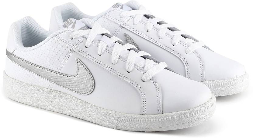 Nike WMNS NIKE COURT ROYALE Sneakers For Women - Buy WHITE METALLIC ... 94d20b3aa