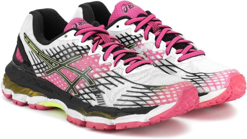 0c75cb8a1da Asics GEL-NIMBUS 17 Running Shoes For Women - Buy WHITE BLACK PINK ...