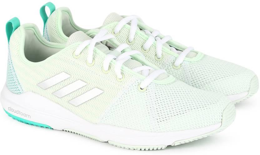 new style 30a60 beba5 ADIDAS ARIANNA CLOUDFOAM Running Shoes For Women (Green)
